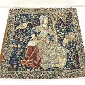 Flemish Tapestries Woman Weaving Pillow Cover